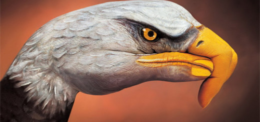Eagle on hand painting