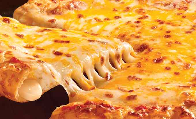 Top 10 Cheese for Pizza - Pizza stufed with cheese