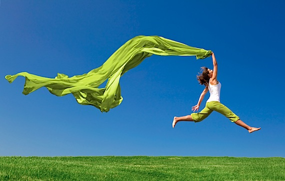 Boost your energy, jumping, being happy