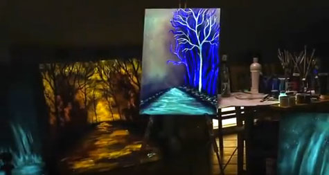 Glow in the dark, Painting light