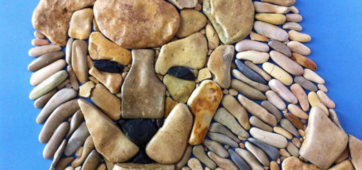 Stone art, creative art, art using stone