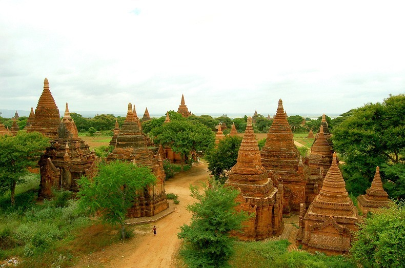 Beautiful Temples in Asia - Temples of Bagan, Burma