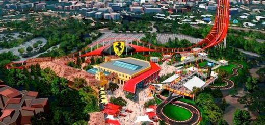 Ferrari Land Spain Roller coaster